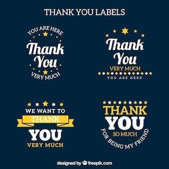 Thank you logo collection