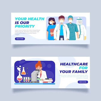 Thank you medical personal banner template