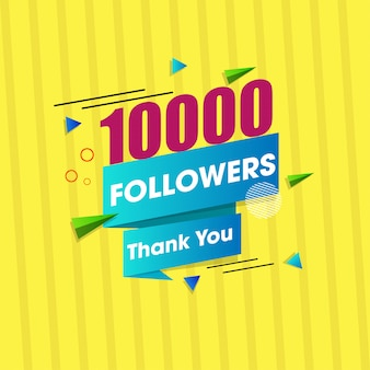 Thank you message for 10000 social media followers.