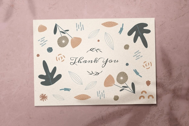 Thank you name card design