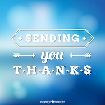 Nota di ringraziamento vettore