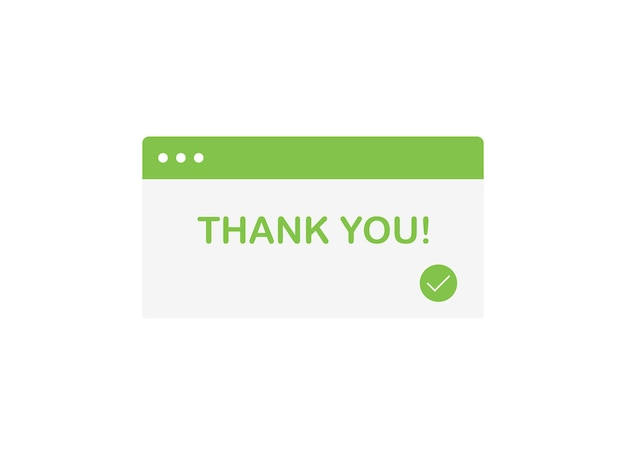 Thank you popup banner for your purchase