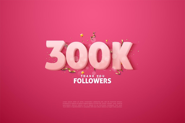 Thank you so much 300k followers with animated figure illustrations.