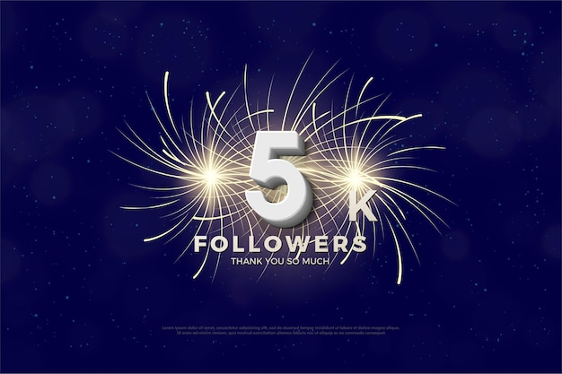 Thank you so much 5k followers with fireworks in tow.