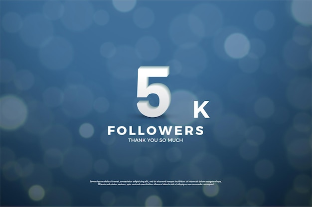 Thank you so much 5k followers with this light effect navy blue.