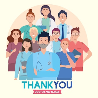 Thank you staff medical Premium Vector