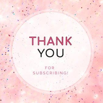 Thank you for subscribing post