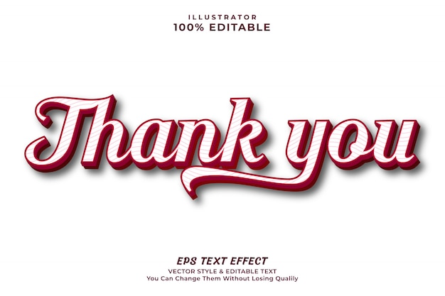 Thank you sweet color text effect -
