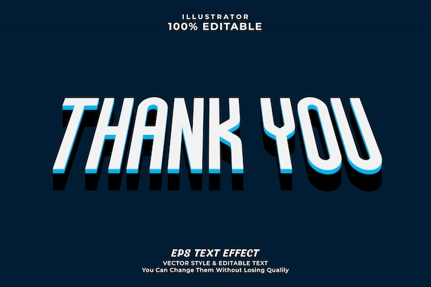 Thank you text effect style, editable text premium
