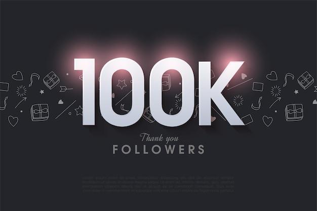 10万人のフォロワーに感謝します