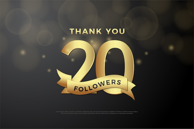Thank you for twenty thousand followers on black background