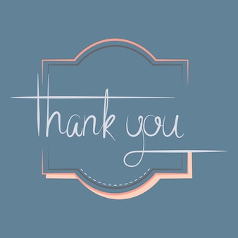 Thank you typography design vector