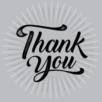 Thank you typography poster. text , badge. Vector calligraphy