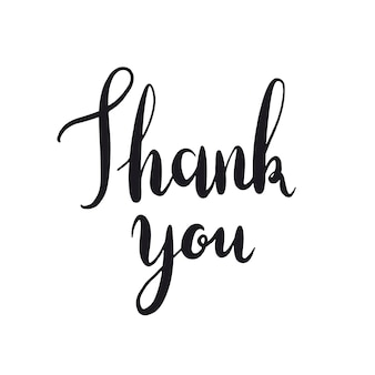 Thank you typography style vector