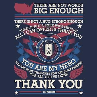 Thank you veteran illustration