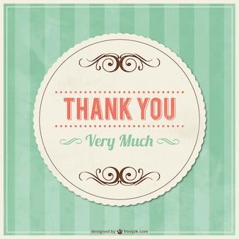 あなたの装飾品とヴィンテージのカードに感謝