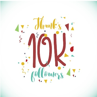 Thanks 100k followers logo