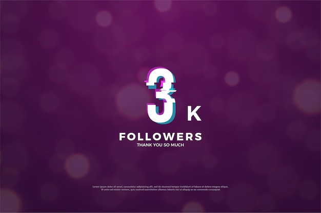 Thanks to 3k followers the number effect slices in peace