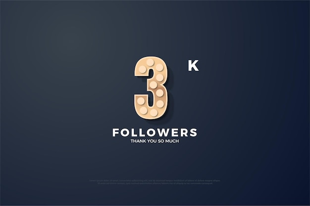 Thanks to 3k followers with round textured figures