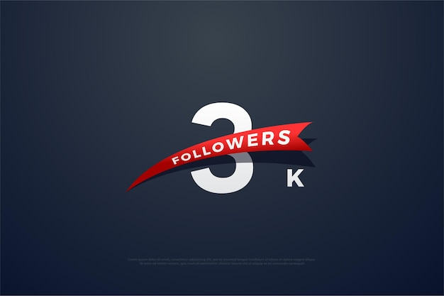 Thanks to 3k followers with tapered red images
