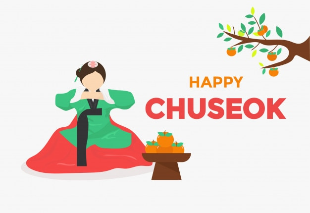 Thanks giving day chuseok background