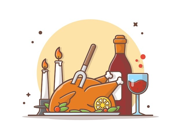 Thanks giving vector icon illustration