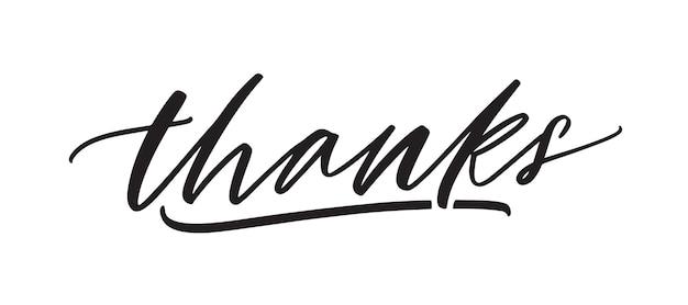 Thanks handwritten vector lettering