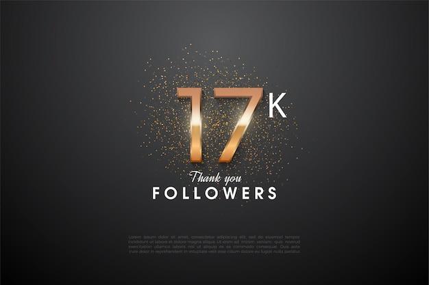 熱烈な数字を持つ17kのフォロワーに感謝します