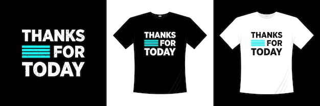 Thanks for today typography