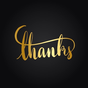 Thanks typography wording style vector
