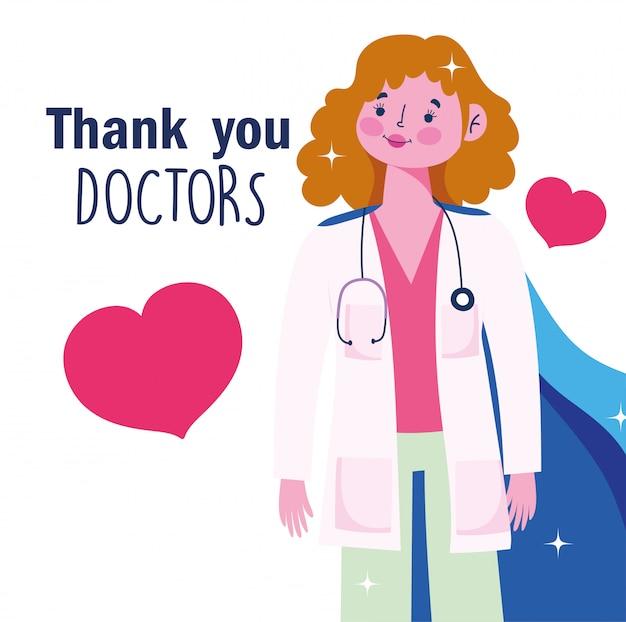 Спасибо вам, врачи, врач с накидкой, любовные сердца