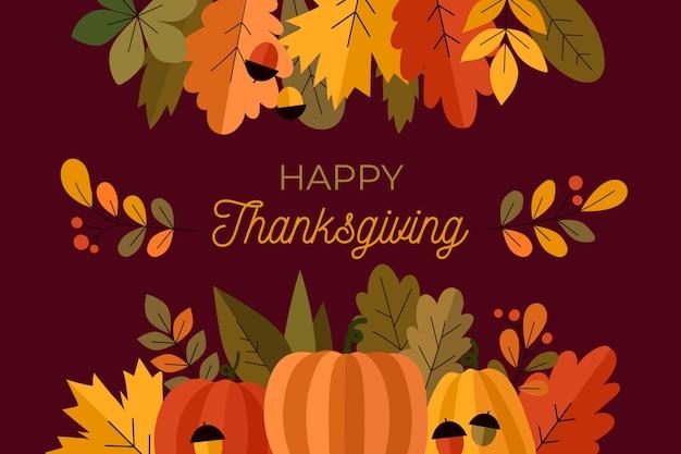 Thanksgiving background in flat design
