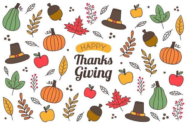 День благодарения фон фрукты и овощи