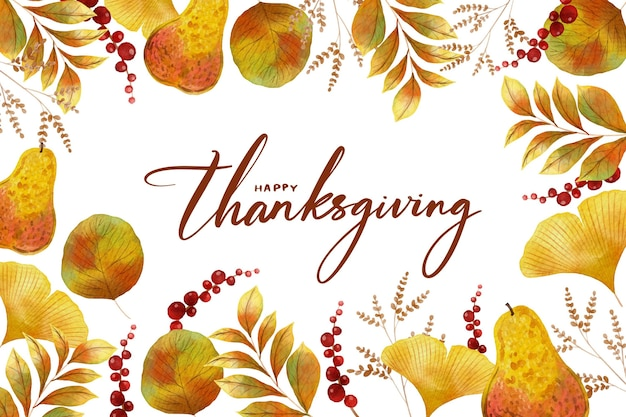 Thanksgiving background watercolor design