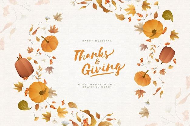 Фон благодарения с тыквами