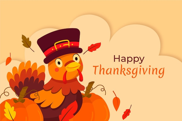 Thanksgiving background with turkey