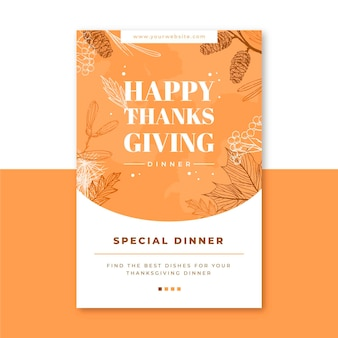 Thanksgiving blog post template