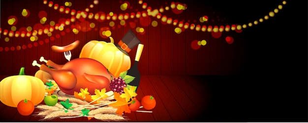 Thanksgiving celebration background.
