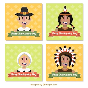 Thanksgiving character cards