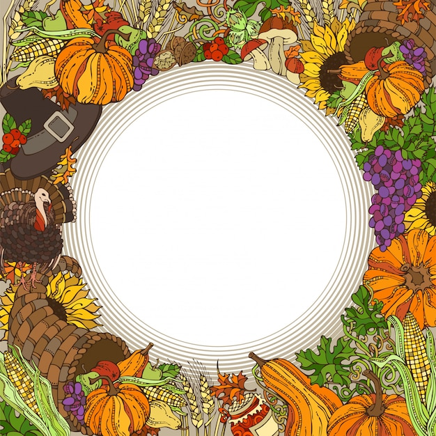 Thanksgiving circle frame