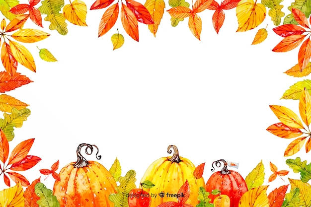 Thanksgiving concept with watercolor background
