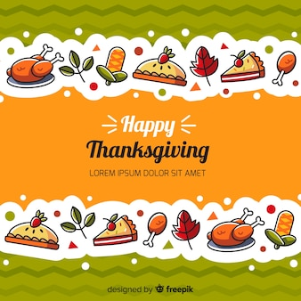 Thanksgiving day background in flat design