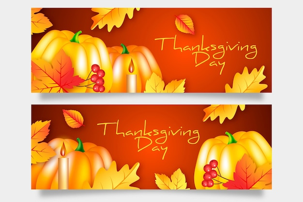 Thanksgiving day banner template