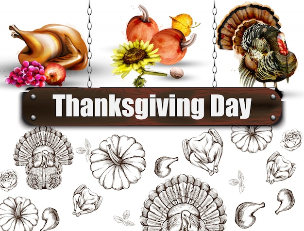 Thanksgiving day banner