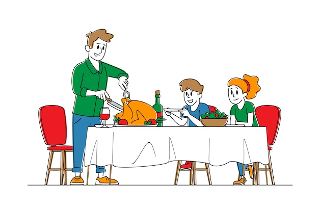 Концепция празднования дня благодарения