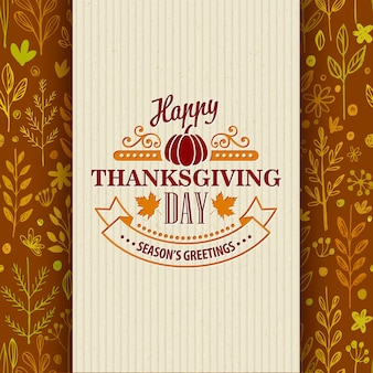 シームレス パターンの感謝祭の日のグリーティング カード