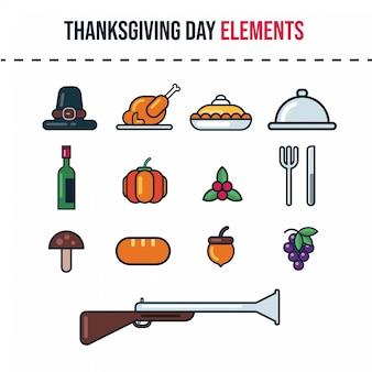 Значки дня благодарения