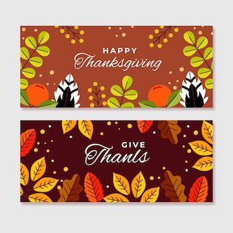 Thanksgiving day instagram banners design