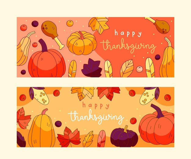 Thanksgiving day instagram banners