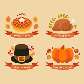 Thanksgiving day instagram labels concept